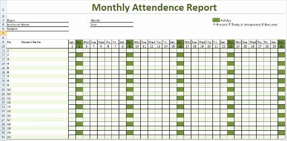Excel attendance Tracker Template Beautiful attendance Tracking Template 10 Free Word Excel Pdf