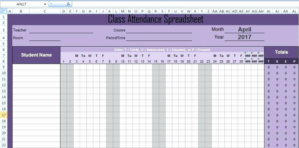 Excel attendance Tracker Template Beautiful Employee Absence Schedule 2015 Excel Template Vacation