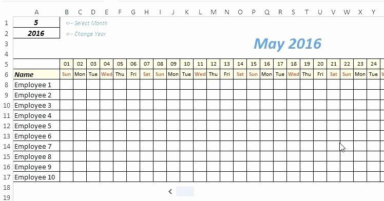 Excel attendance Tracker Template Best Of Employee attendance Template – Friendscenterfo