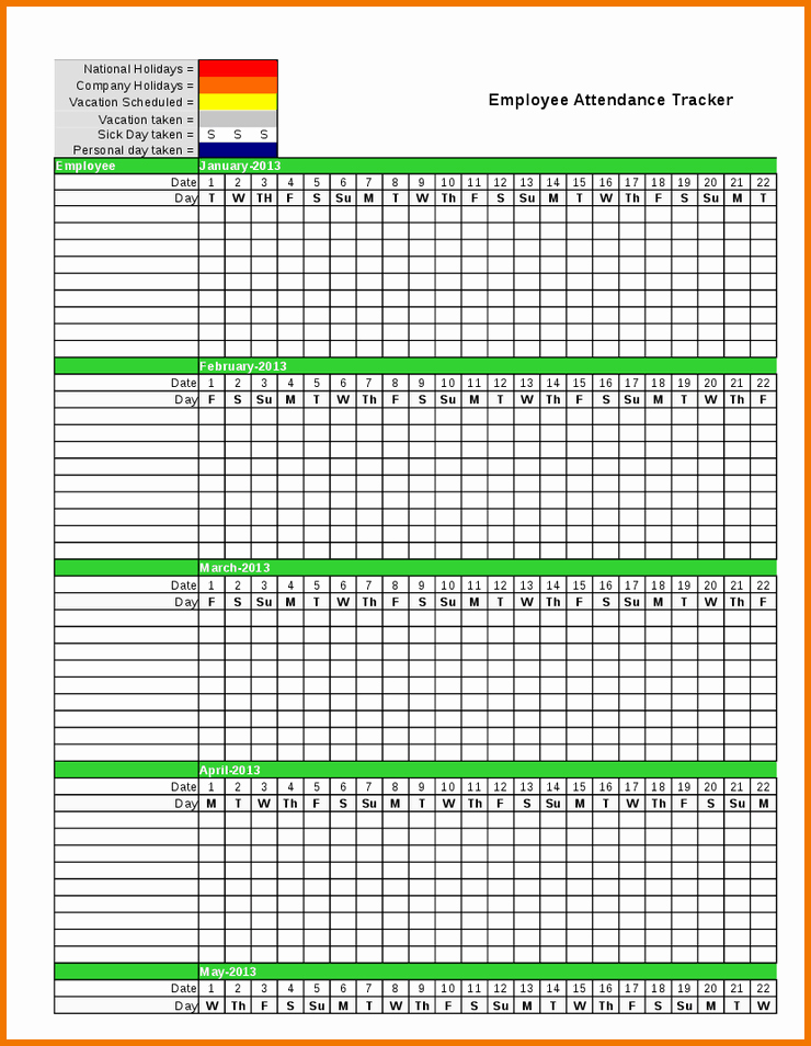 Excel attendance Tracker Template Best Of Employee Vacation Tracking Template Keni
