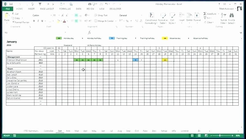 Excel attendance Tracker Template Inspirational attendance Tracking Spreadsheet Employee attendance