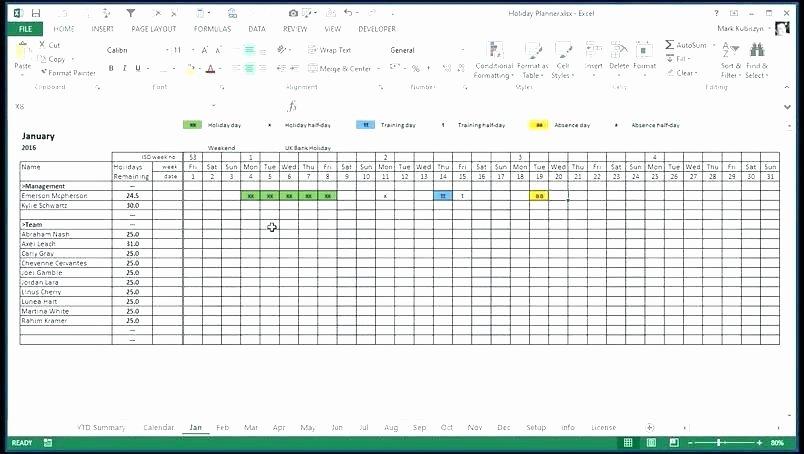 Excel attendance Tracker Template Inspirational attendance Tracking Spreadsheet Employee attendance
