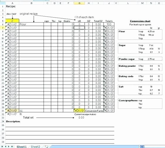 Excel Book Inventory Template Awesome Excel Recipe Template Food Cost Spreadsheet Template Free