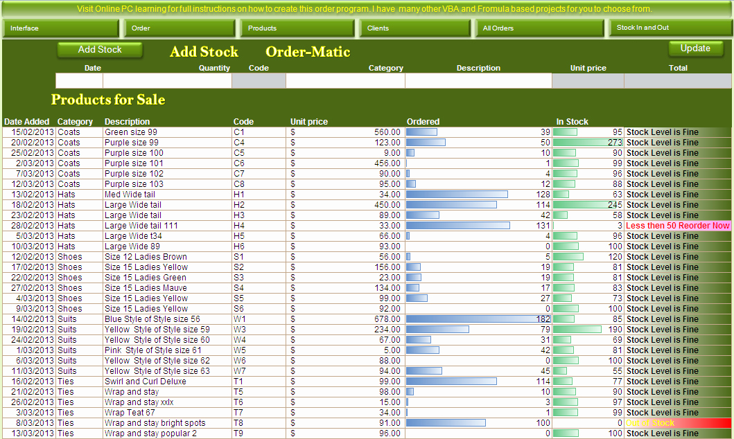 Excel Book Inventory Template Beautiful Excel Vba order and Inventory Management Excel 2013