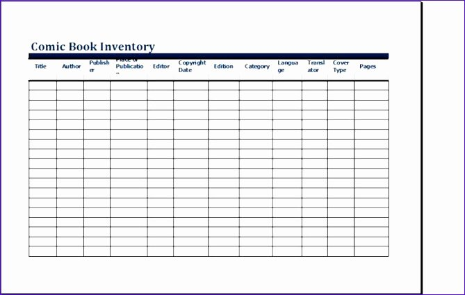 Excel Book Inventory Template Elegant 7 Microsoft Excel Business Templates Exceltemplates
