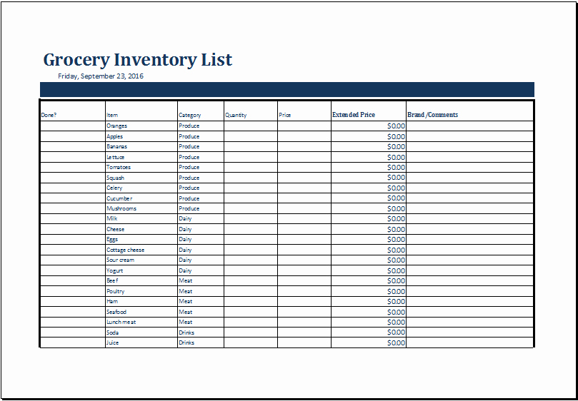Excel Book Inventory Template Fresh Grocery Inventory List Template Ms Excel