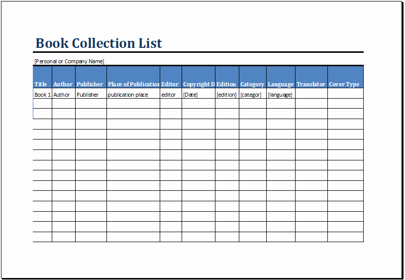 Excel Book Inventory Template Fresh Printable Book Inventory List Template Ms Excel