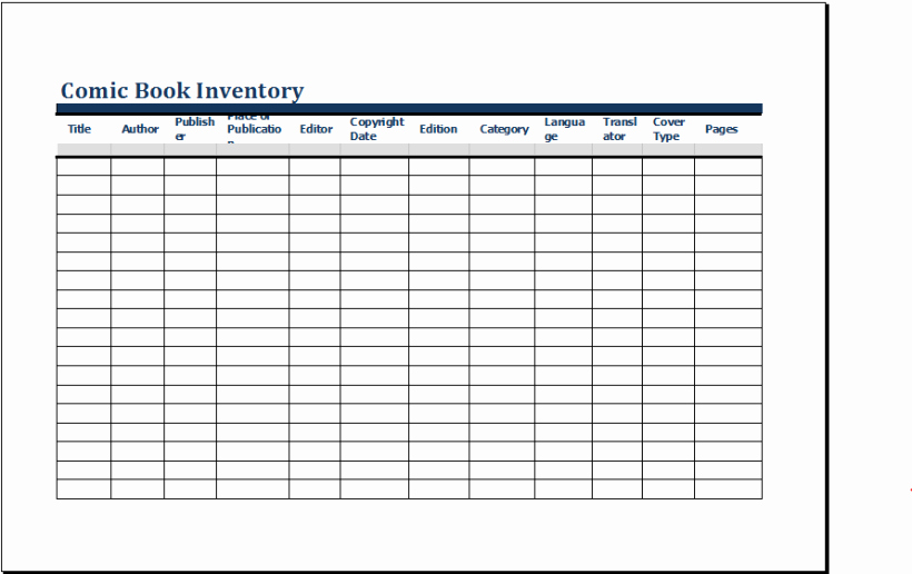 Excel Book Inventory Template New Ic Book Inventory Template Ms Excel