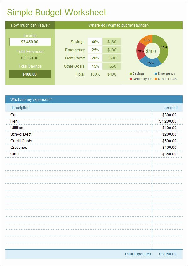 Excel Business Budget Template Inspirational Simple Bud Template 14 Download Free Documents In