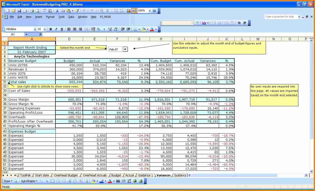Excel Business Budget Template Lovely Excel Business Bud Template