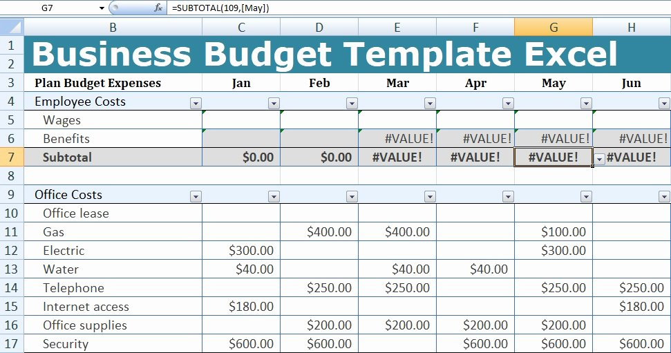 Excel Business Budget Template New Business Bud Template Excel