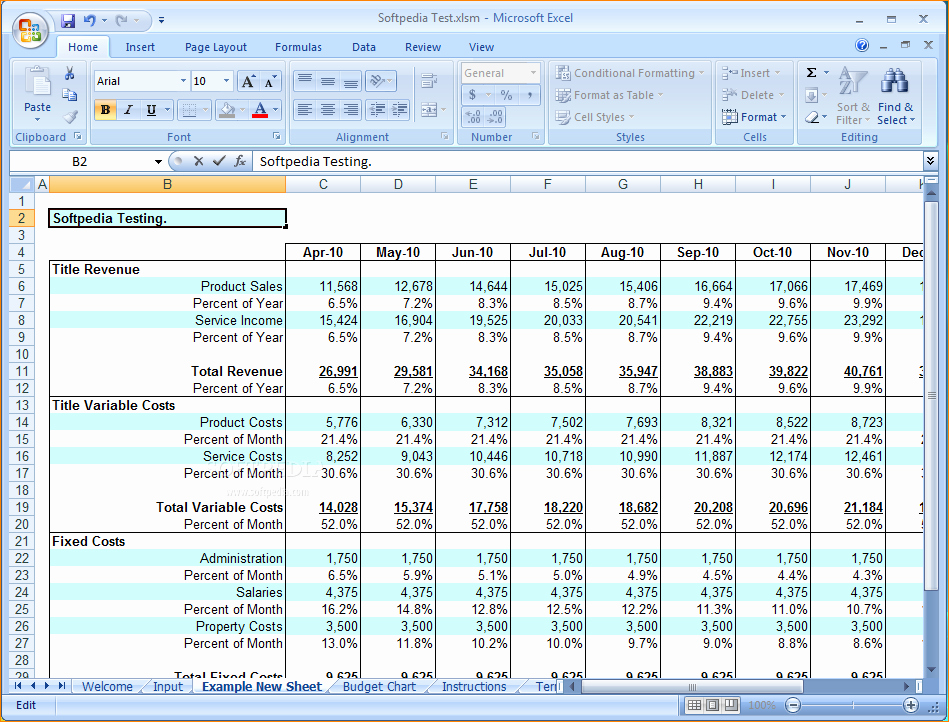 Excel Business Budget Template New Excel Business Bud thevillas