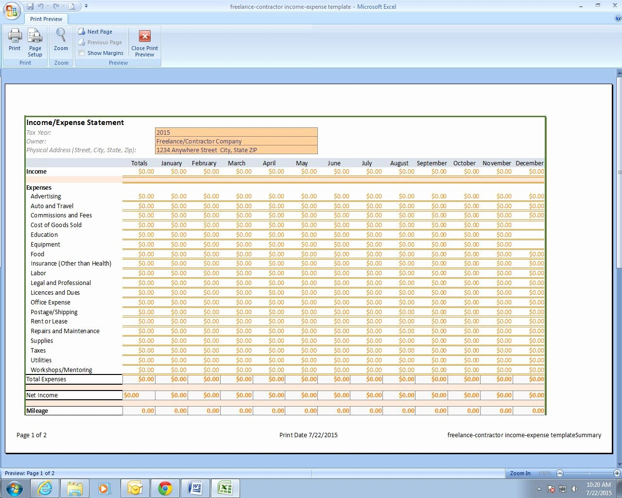 Excel Business Expense Template Beautiful Freelance Grapher In E and Expenses Excel
