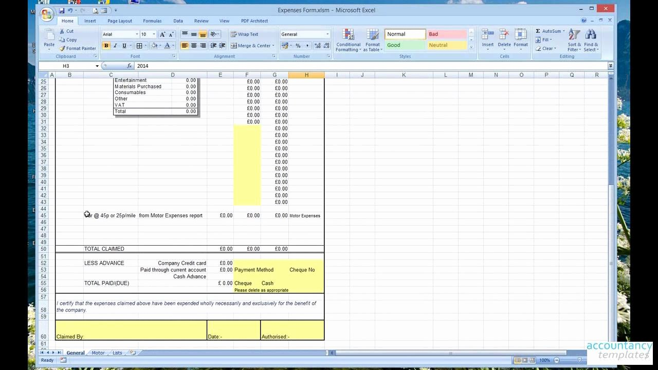 business spreadsheet of expenses and in e 2 3