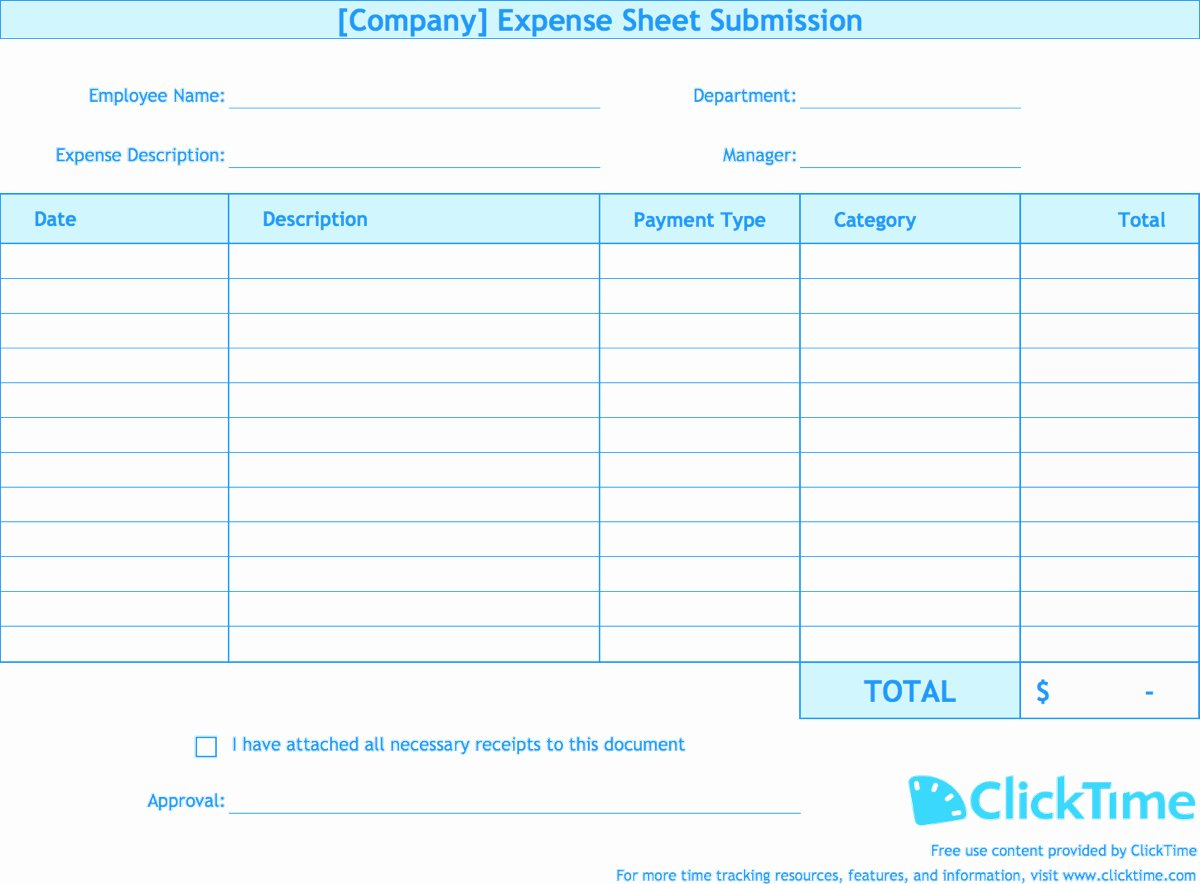 Excel Business Expense Template Unique Detailed Expense Report Template Expense Spreadshee