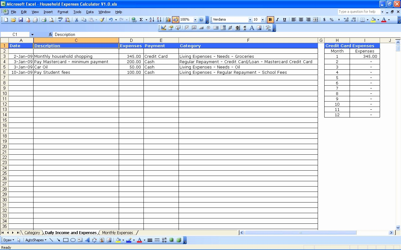 Excel Business Expenses Template Fresh Monthly Business Expense Template 1 Expense Spreadsheet