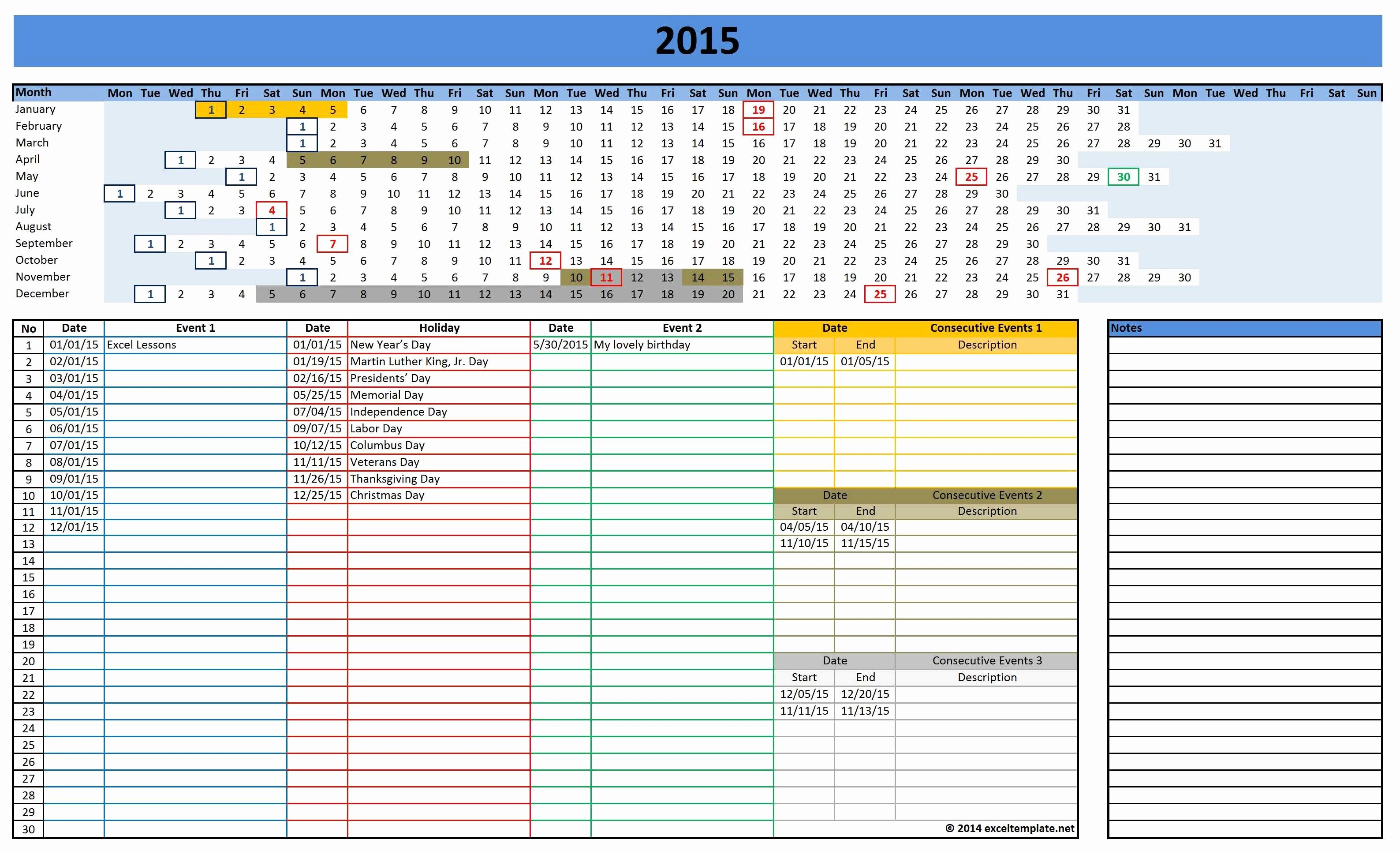 Excel Calendar Schedule Template Beautiful 2016 Calendars