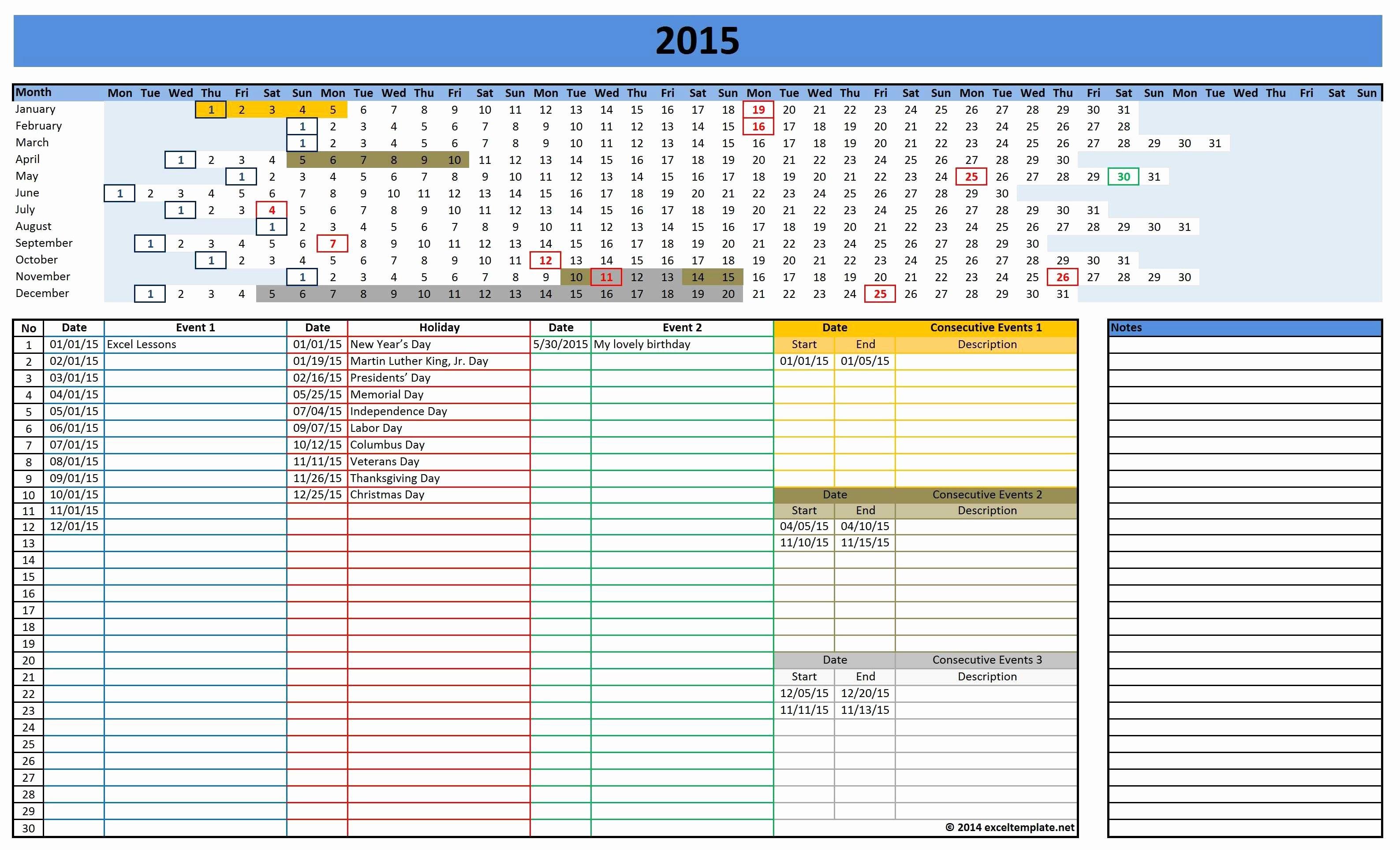 Excel Calendar Schedule Template Beautiful 2016 Calendars