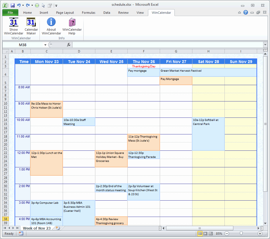 Excel Calendar Schedule Template Lovely Calendar Maker & Calendar Creator for Word and Excel