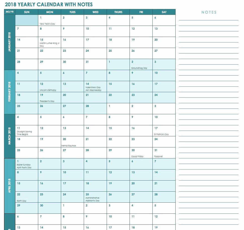 Excel Calendar Schedule Template Lovely Free Excel Calendar Templates