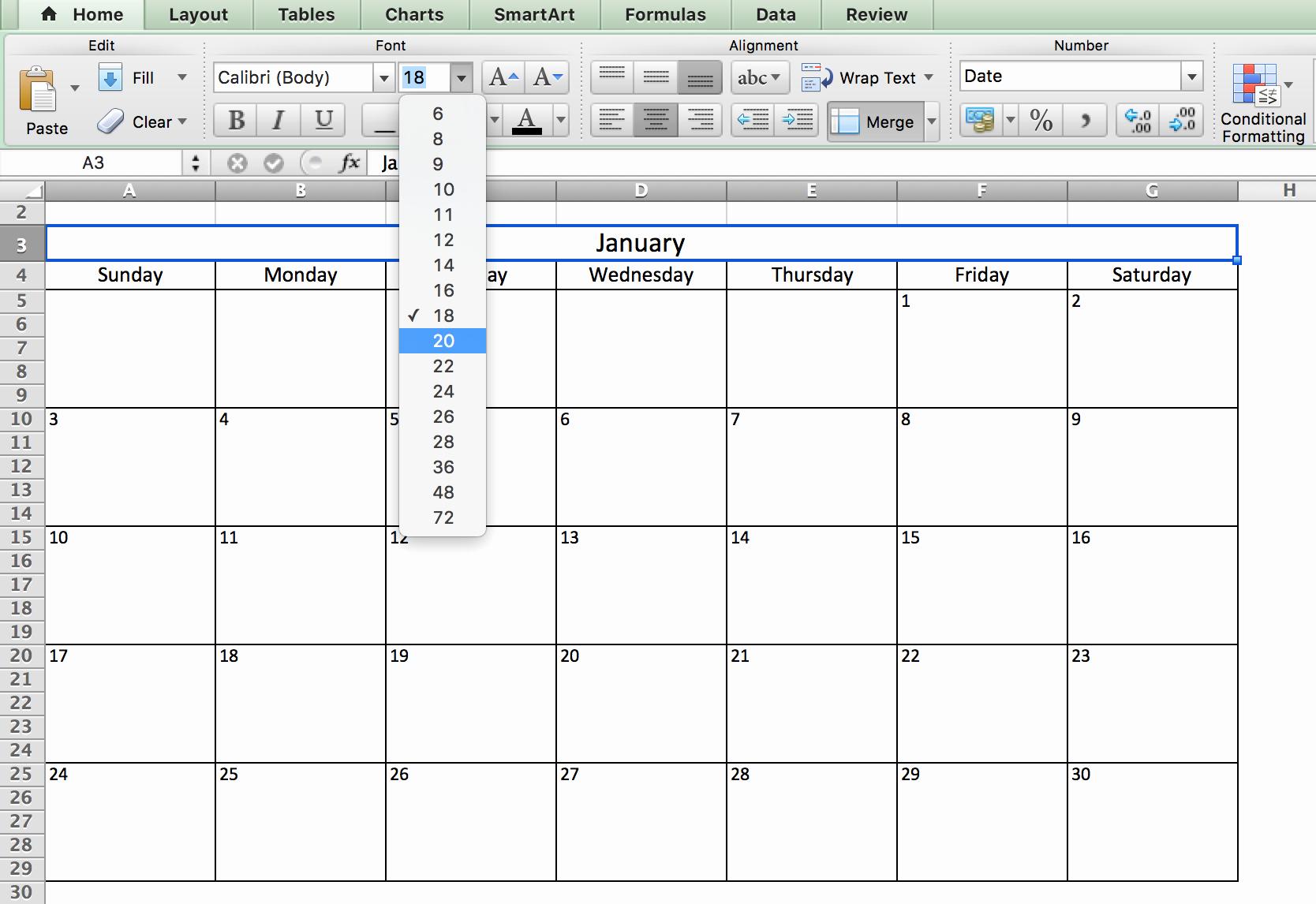 Excel Calendar Schedule Template Luxury Make A 2018 Calendar In Excel Includes Free Template