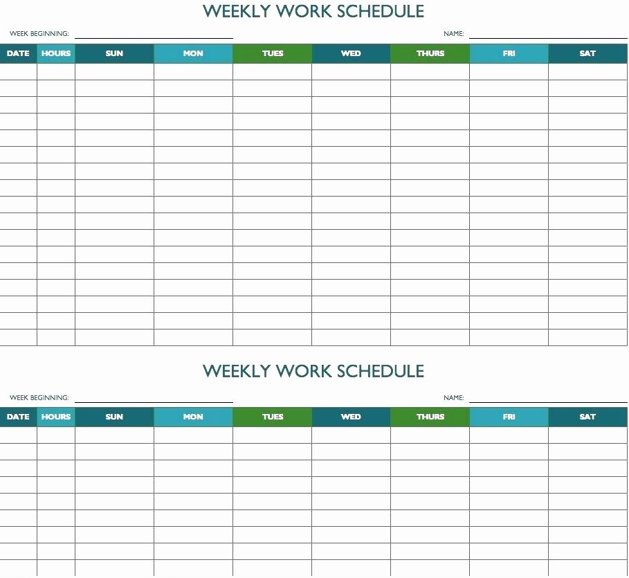 Excel Calendar Schedule Template New Editable Weekly Planner Template – Haydenmedia