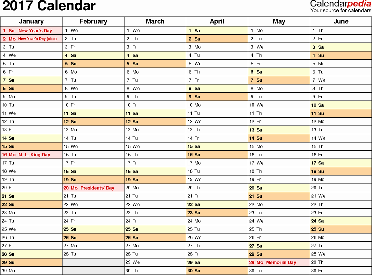 Excel Calendar Schedule Template New February 2017 Calendar Excel