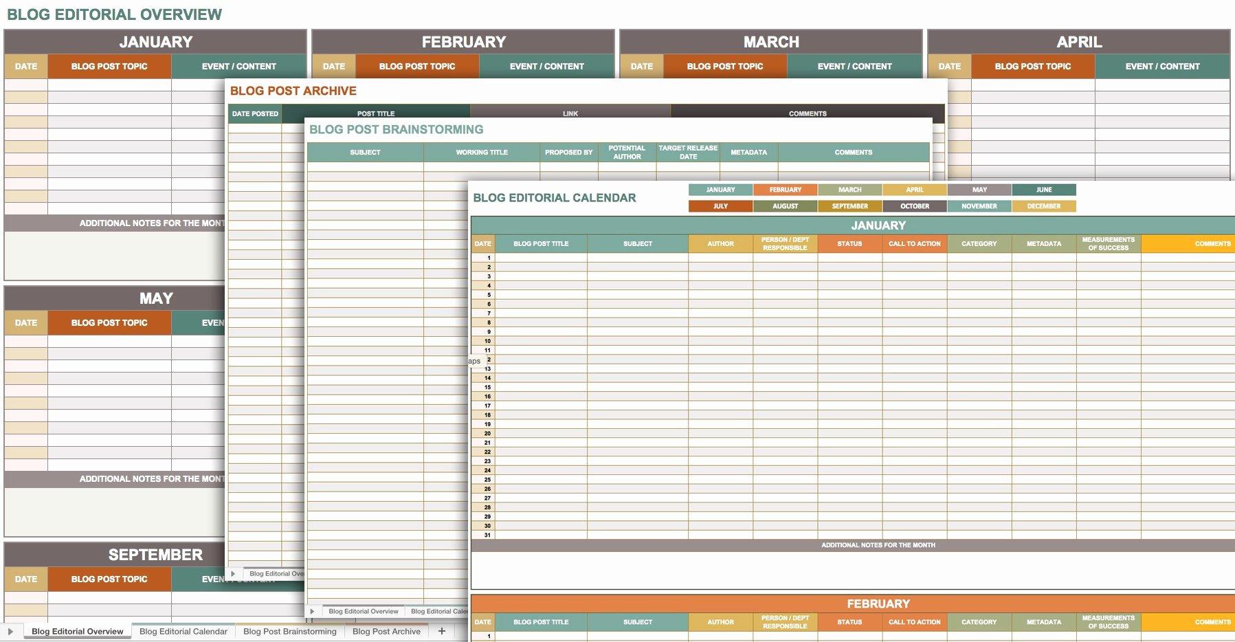 Excel Calendar Schedule Template New Free Marketing Plan Templates for Excel Smartsheet
