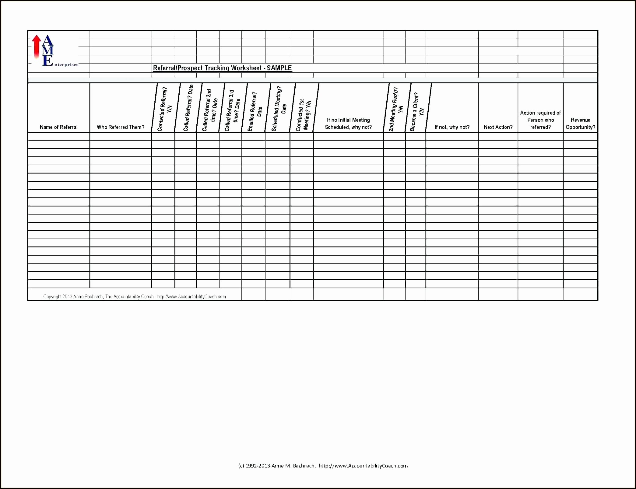 Excel Client Tracking Template Awesome Template Customer Referral Template