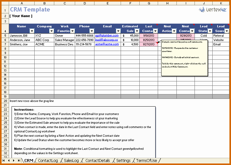Excel Client Tracking Template Fresh 11 Excel Spreadsheet Templates for Tracking