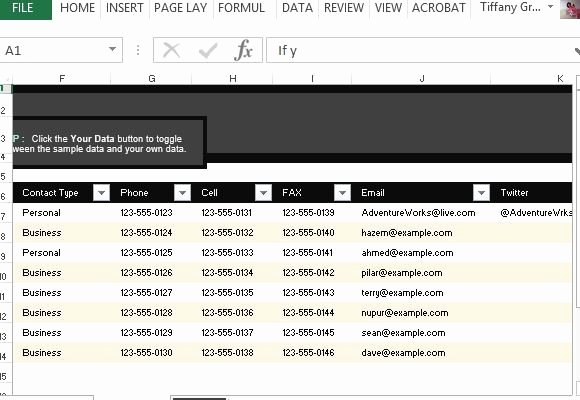 Excel Contact List Template Beautiful Customer Contact List Template for Excel