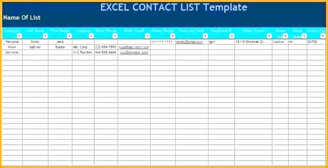 Excel Contact List Template Inspirational Contacts List Template Announcement Excel Quote Quotation