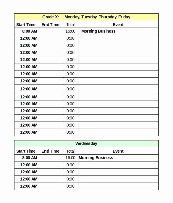 Excel Daily Schedule Template Awesome event Planning Template Excel Inspirational Conference