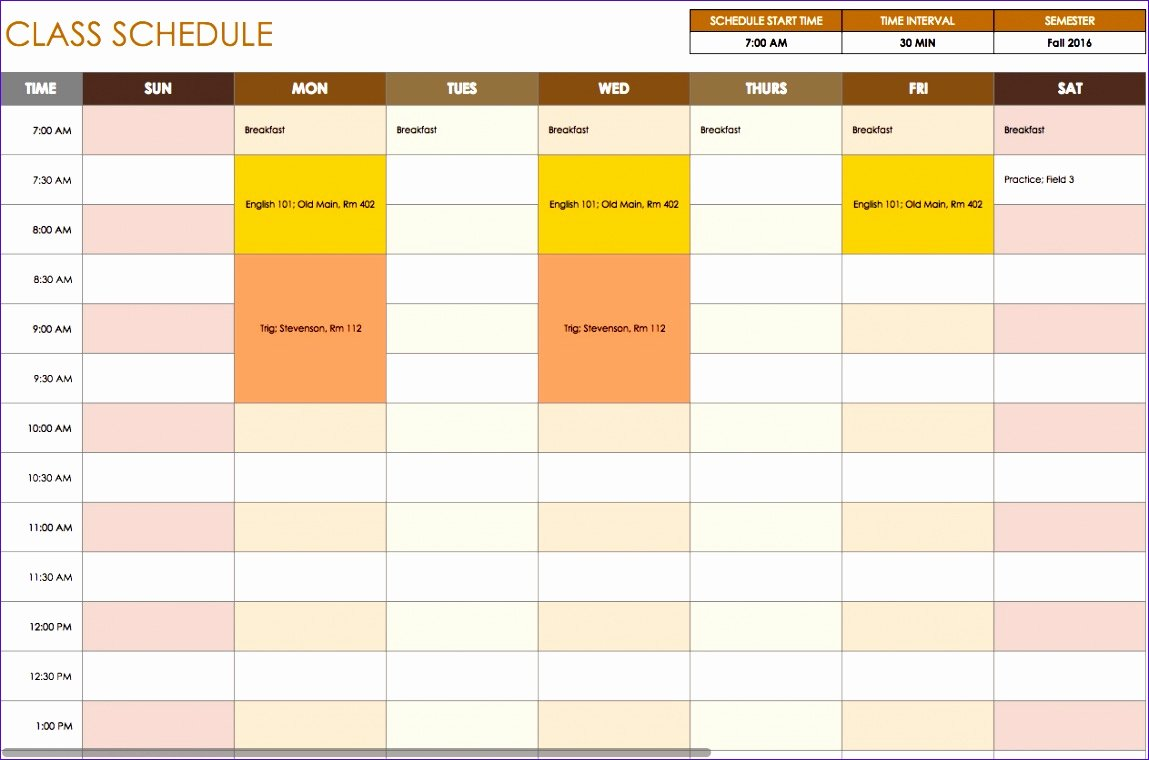 Excel Daily Schedule Template Best Of 10 Daily Timetable Template Excel Exceltemplates