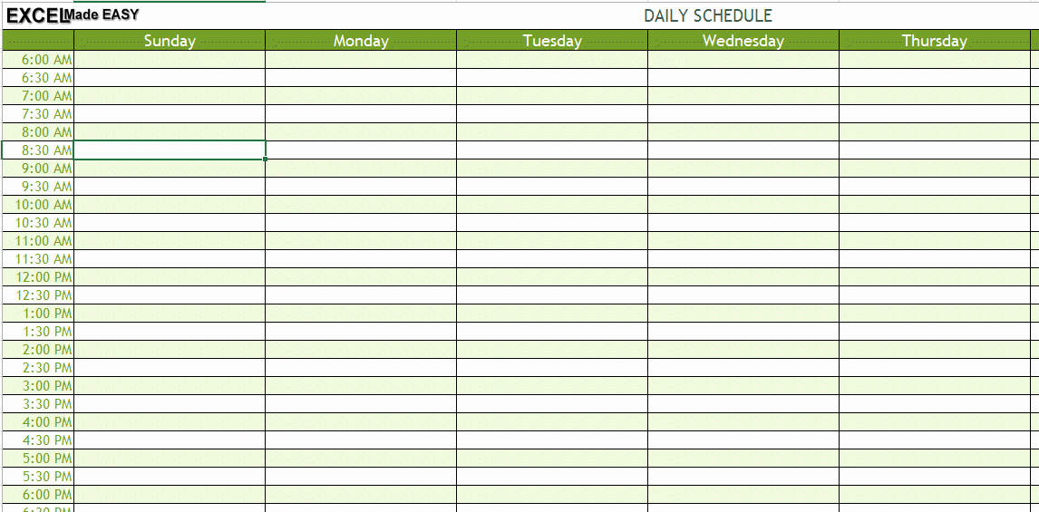 Excel Daily Schedule Template Best Of Img Daily Schedule Template Excel Lorgprintmakers
