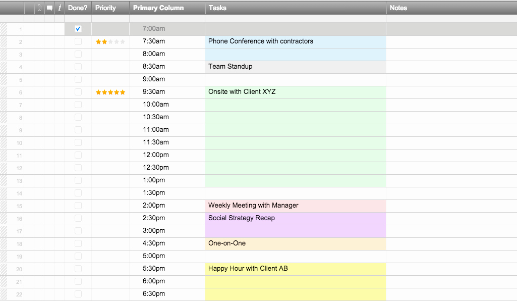 Excel Daily Schedule Template Inspirational Free Excel Schedule Templates for Schedule Makers