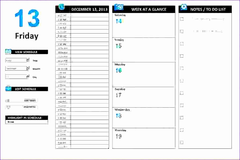 Excel Daily Schedule Template Luxury 10 Daily Timetable Template Excel Exceltemplates