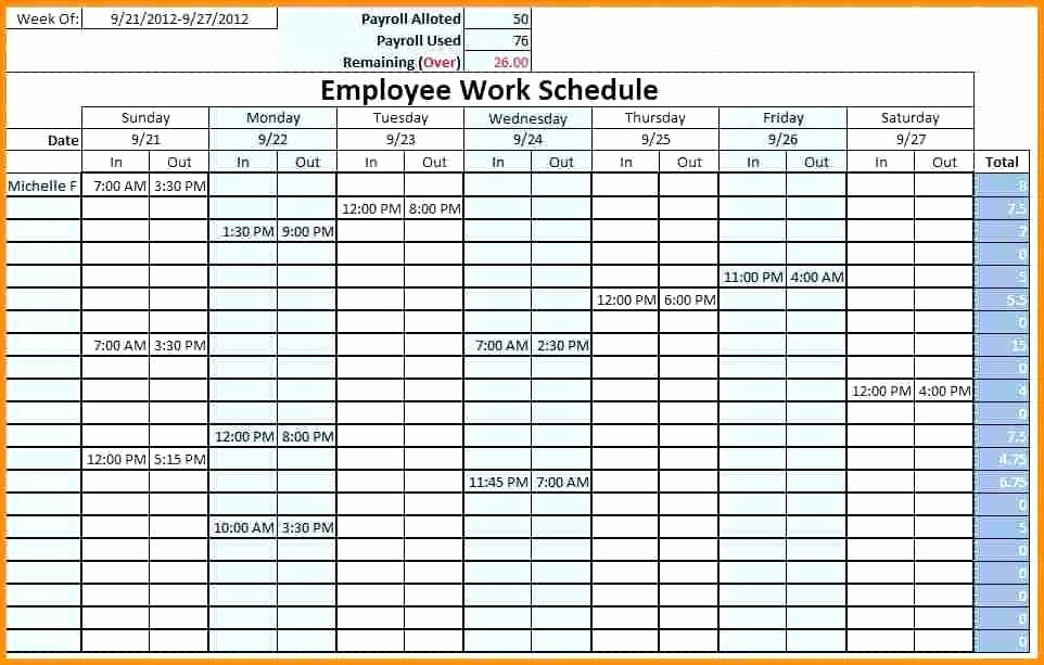 Excel Daily Schedule Template Luxury Weekly Schedule Template Study Timetable after School