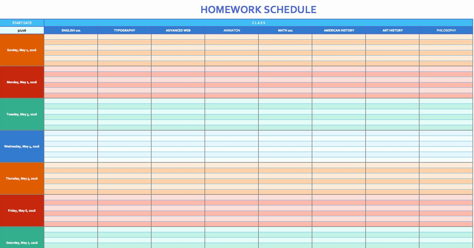 Excel Daily Schedule Template New Excel Template Schedule