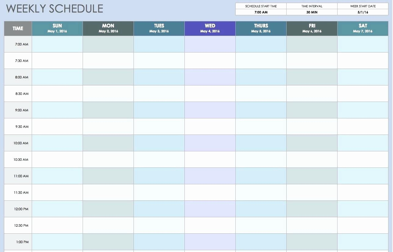 Excel Daily Schedule Template New Template Daily Calendar Template Excel