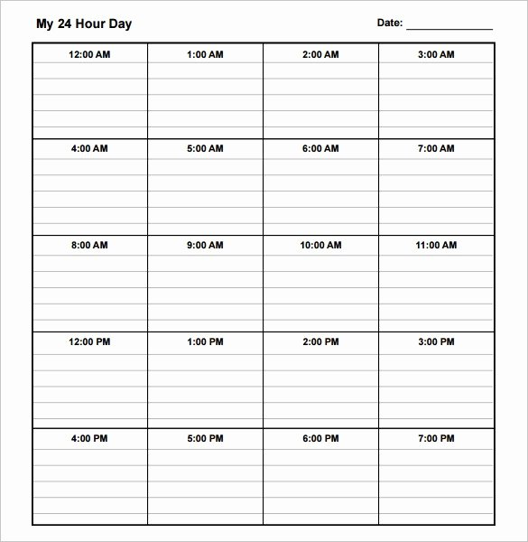 Excel Daily Schedule Template Unique 10 Daily Schedule Templates Printable Excel Word Pdf