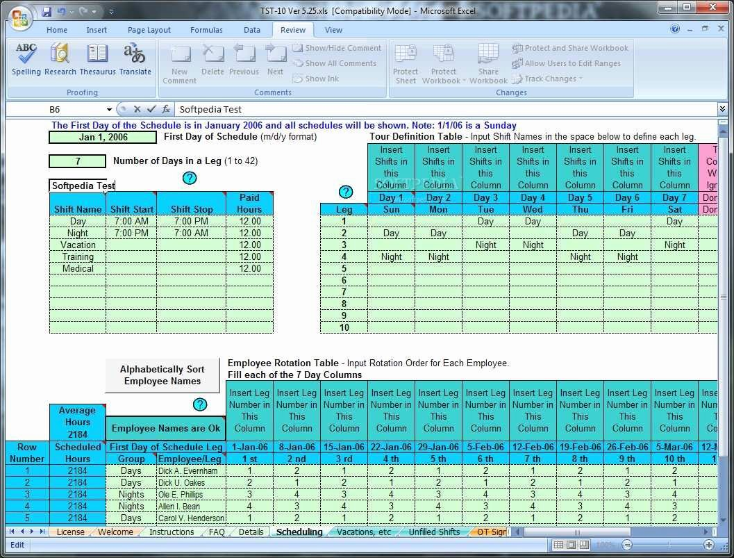 Excel Employee Shift Schedule Template Best Of Awesome Employee Shift Schedule Excel Template Download