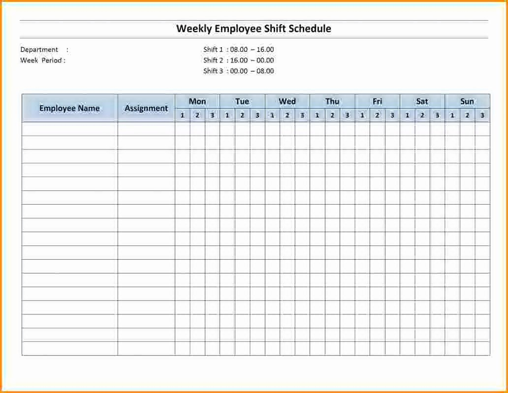 Excel Employee Shift Schedule Template Inspirational Employee Training Schedule Template Excel Templates