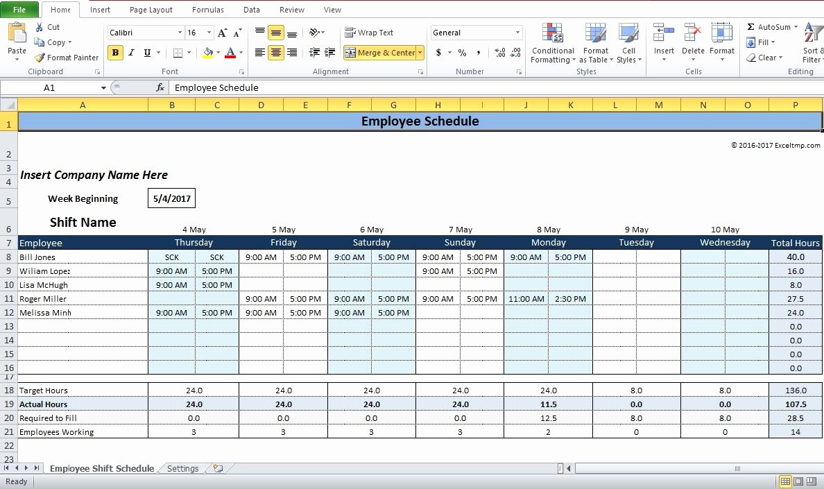 Excel Employee Shift Schedule Template Unique Employee Shift Schedule Generator Excel Template