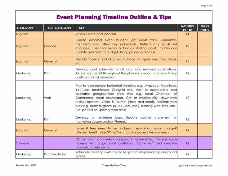 Excel event Planning Template Fresh event Planning Template Excel Google Search