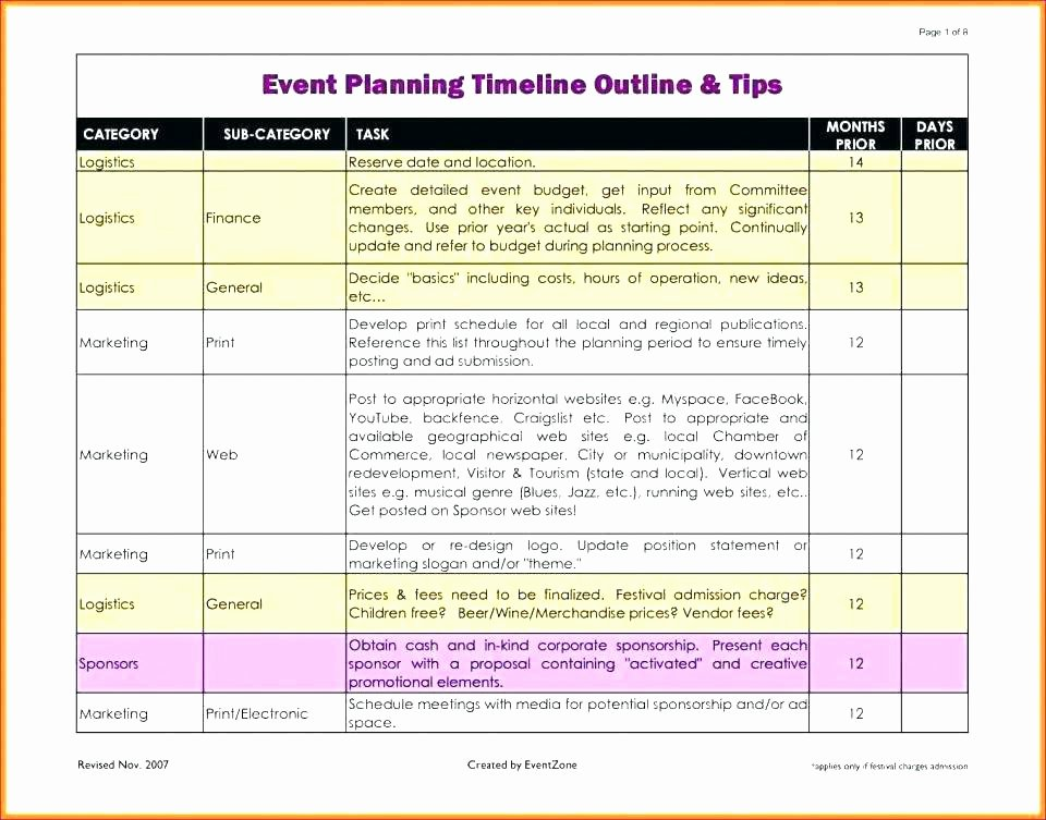 Excel event Planning Template Luxury Sample Festival event Plan Free Template Download Schedule