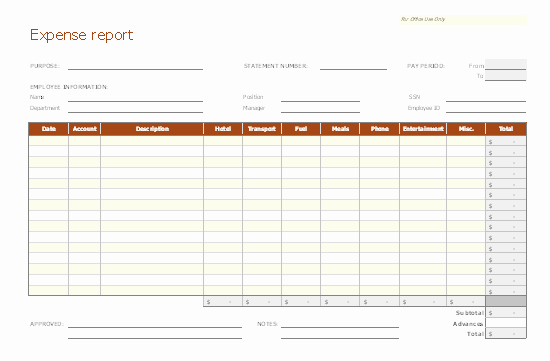 Excel Expense Report Template Best Of Expense Report