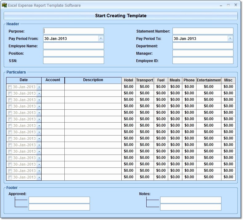 Excel Expense Report Template Free Beautiful Report Template All Downloads