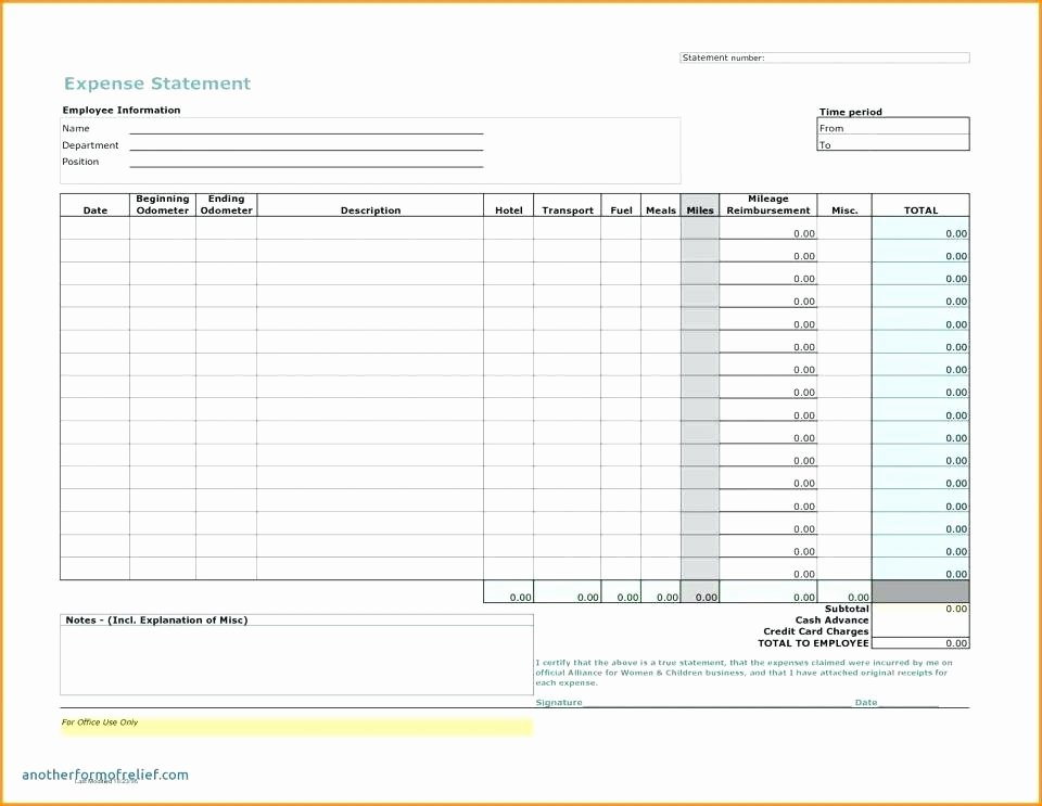 Excel Expense Report Template Free Best Of Open Office Expense Report Template
