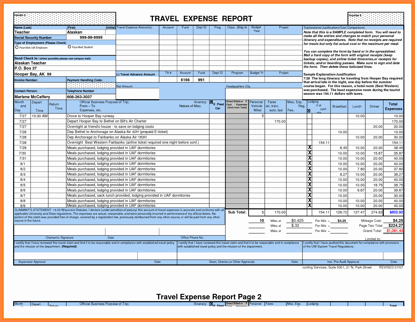 Excel Expense Report Template Free Inspirational 8 Microsoft Office Expense Report Template